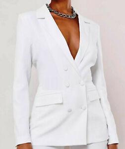 Jennifer James Womens White Blazer - Size 10