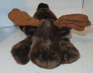 "Rare Russ Berrie Gusto Plush Moose Stuffed Animal Poseable Antler 15"" Nice Toy"