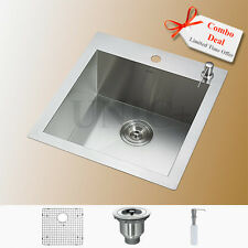 Square Kitchen Sink Bar, Sink Top Mount Sink, Stainless Steel Bar Sink, KTS1921