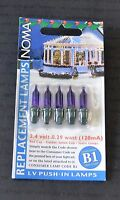 NOMA B1 2.4V 0.29W PURPLE STATIC SPARE BULBS (1129)