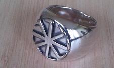 0,95oz or 27gr Solid Sterling Silver 925 Kolovrat RING Ethnic
