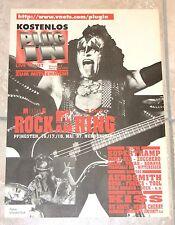 "German KISS Magazine Newspaper Heft Rock am Ring 1997 ""Plug in No 5"" (Aerosmith)"
