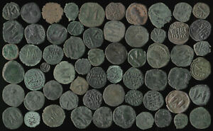 62 ANCIENT BYZANTINE COPPERS (NICE COLLECTIBLE LOT) SEE PICTURES > NO RESERVE