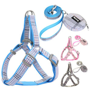 Step In Dog Harness&Leads&Treat Bag Set Pet Puppy Cat Strap Vest French Bulldog