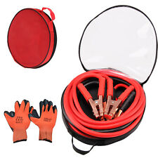 Duty Battery Jump Start Lead Cable 1200amp 5m Jumpleads Car Van Boost & Gloves o