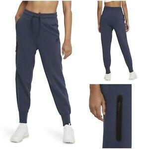 NWT $100 NIKE Sportswear Women's Tech Fleece Joggers Blue Size XS