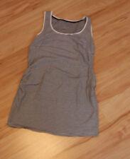 H&M Mama Umstandsshirt Shirt Top Tanktop schwarz weiß gestreift Gr. M Bio-Baumw.