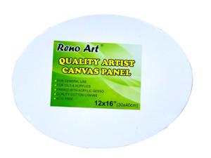 "5×Blank Oval Panels 12""x 16"" Artist Canvas Panel Board Art Drawing Wholesale Art"