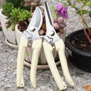 2 Pack Garden Pruning Shears Set Bypass Pruner Straight Blade Scissors USA