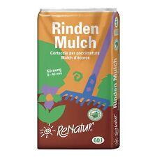 ReNatur Rindenmulch, Körnung 0-40 mm - 60 Liter Nadelholzrinde Mulch