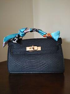 Micro Snakeskin Padlock Handbag