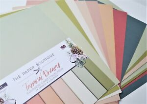 The Paper Boutique A4 Coloured Card Collection 200gsm 24 sheets 8 Colours