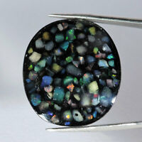 55.60Cts Natural Colorful Ethiopia Opal Handmade Oval Cabochon Loose Gemstone
