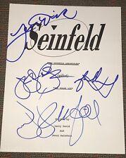 JERRY SEINFELD LARRY DAVID ALEXANDER DREYFUS SIGNED AUTOGRAPH PILOT SHOW SCRIPT