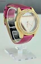 NWT Ladies Watch Prime Chic GUESS Pink Leather Steel Women New Beautiful