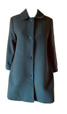 COS-Peter Pan Collar-Longline Wool Coat-Size 36