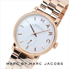 NUOVO MARC JACOBS BAKER Rose Gold Tone Quadrante Bianco Bracciale Ladies Watch MBM3244