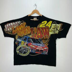 Jeff Gordon #24 Layin' Down The Law Chase Authentics Vtg T-shirt 2XL Nascar Aop