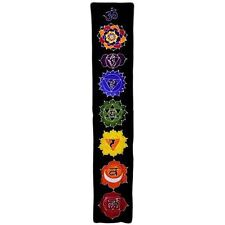 Chakra Drop Banner - Midnight Colours - Bali Batik Wall Hanging