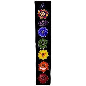 Chakra Drop Banner - Midnight Colours - Bali Batik Wall Hanging