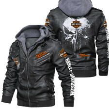 Harley davidson - Leather Jacket, Best gift, New jacket-HALLOWEEN-SKULL SO COOL