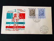REPUBBLICA  BUSTA FDC  1958 AMICIZIA ITALO IRANIANA
