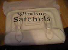 New Windsor Satchel Bag Cream White Faux Leather bnib