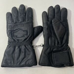 Harley Davidson Black Leather Motorcycle Riding Gloves Men's 2XL Biker