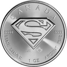 2016  CANADIAN SUPERMAN S-SHIELD {BU - UNC}  1 OZ .9999 FINE SILVER BULLION COIN