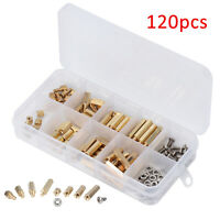 120Pcs M3 Standoff Spacer PCB Hex Screws Bolts Nuts Set Brass Male Female