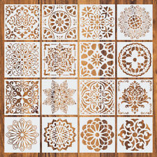 16pcs Mandala Drawing Dot Painting Templates Stencils Tool For DIY Art Decor UK