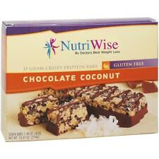 NUTRIWISE - Protein Diet Bars | Chocolate Coconut| 7/Box, Gluten Free, Low Fat
