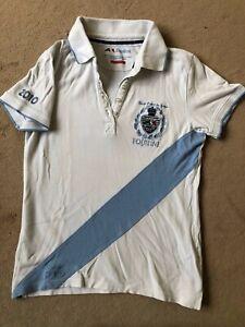 Mädchen.   Equiline.   weißes Poloshirt,    Gr. M,    Reitsport