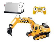 GRANDE 8 funzione RC Escavatore carico camion costruzione JCB Digger BOY Natale Giocattolo