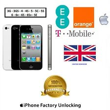 UNLOCK YOUR iPhone UK T-Mobile Orange EE 4 4S 5 5C 5S 6 6+ 6S 6S+ SE