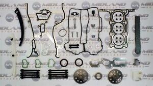 Opel Corsa 1.0i Essence A10XEP Kit Chaîne Distribution + Tête Joint Set Boulon