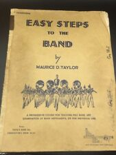 Easy To The Band by Maurice Taylor, B Flat Saxophone , 1939 Instruction Book