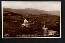 Ponterwydd - The Old and The New Bridge - real photographic postcard