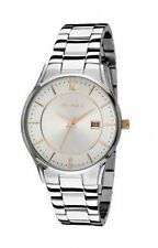 Polished Silver Strap Dress/Formal Wristwatches