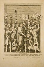 svove taurilia sacrificat trajanus pateram ,gravure ancienne, Bartoli