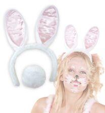 White Bunny Set Hasenohren und Hasenschwanz weiß Snowball 129302113
