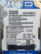 "Western Digital WD3200BEVT-22A23T0 320gb 2.5"" Sata Laptop Drive"