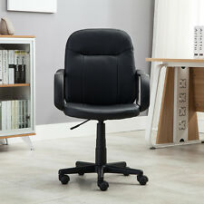 Black Modern Office Executive Chair PU Leather Computer Desk Task Hydraulic NEW%