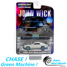 CHASE ! Green Machine ! 1:64 Hollywood - John Wick - 1969 Ford Mustang Boss 429