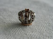 Clogau Silver & 9ct Welsh Gold Royal Crown Garnet Bead Charm RRP £149.00