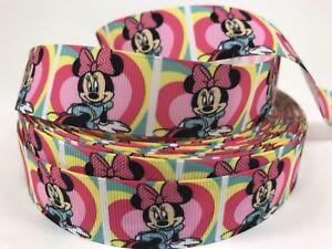"3 Yards 7//8/"" Disney Mickey Mouse Fireworks Grosgrain Ribbon Hair Bows Lisa SALE"