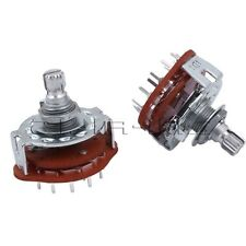 2pcs 4-way 3-Pole Guitar Amplifier Channel Band Rotary Switch Selector