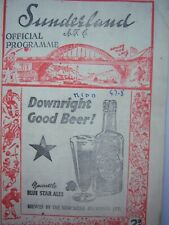 More details for sunderland v middlesborough first division 1947/48 good condition8 pages