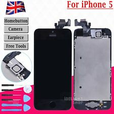 For iPhone 5 Full LCD Display Touch Screen Digitizer Assembly Replacement Black