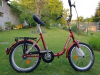 """Folding City Bicycle 1 Speed Bike 20"""" inch steel frame-quality processing RED"""